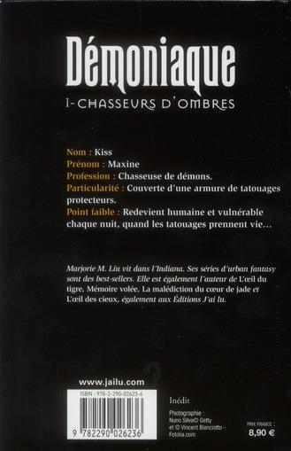 Démoniaque t.1 ; chasseurs d'ombres