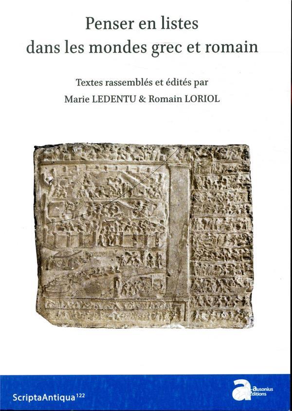 Penser en listes dans les mondes grec dans l'épopée et l'historiographie latines