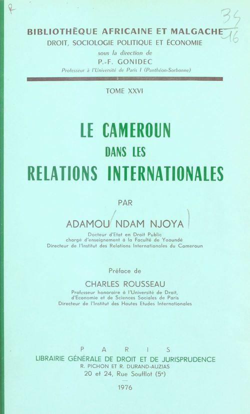 Cameroun rel.internationales