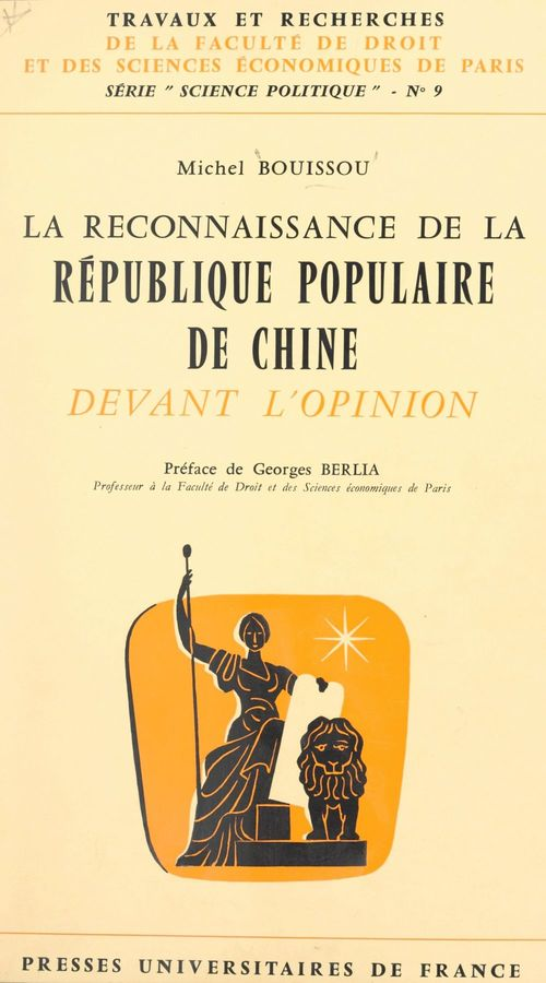 La reconnaissance de la République populaire de Chine devant l'opinion