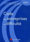 Code des entreprises en difficulté (3e édition )