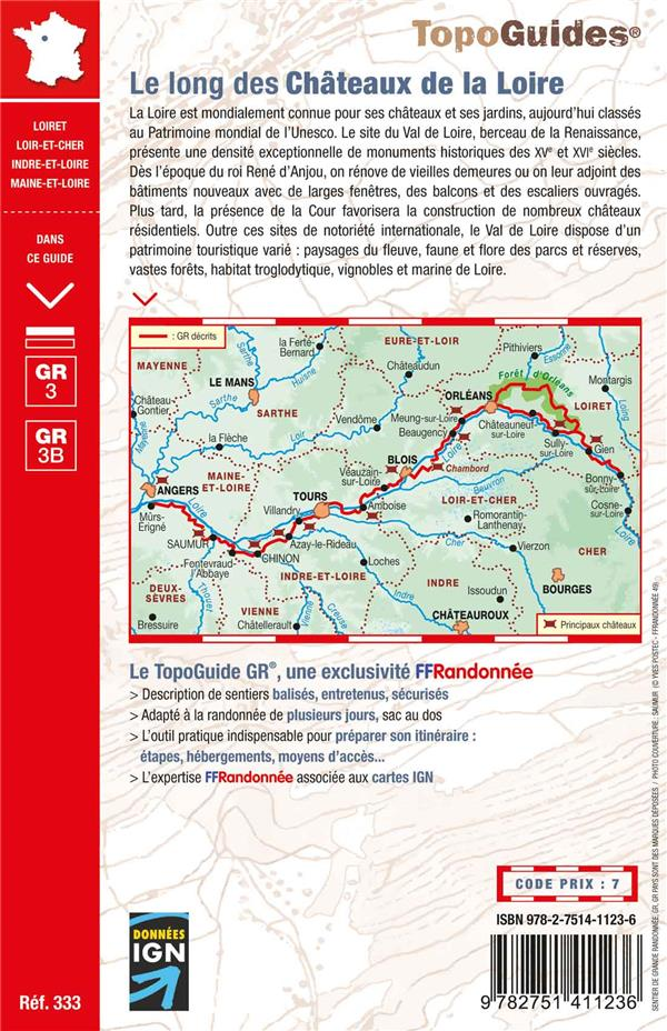 le long des châteaux de la Loire : GR3, GR3A, GR3C