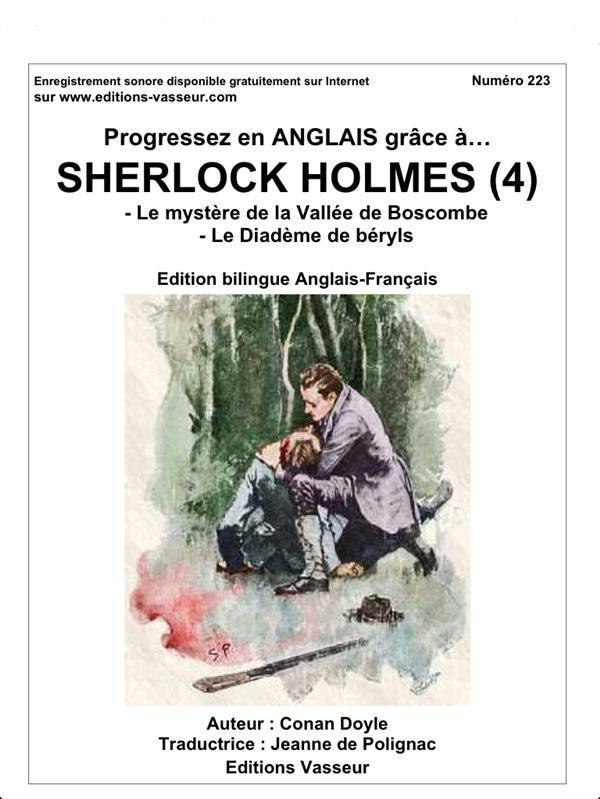 progressez en anglais grâce à... ; Sherlock Holmes t.4 ; le mystère de ka vallée de Boscombe ; le diadème de béryls