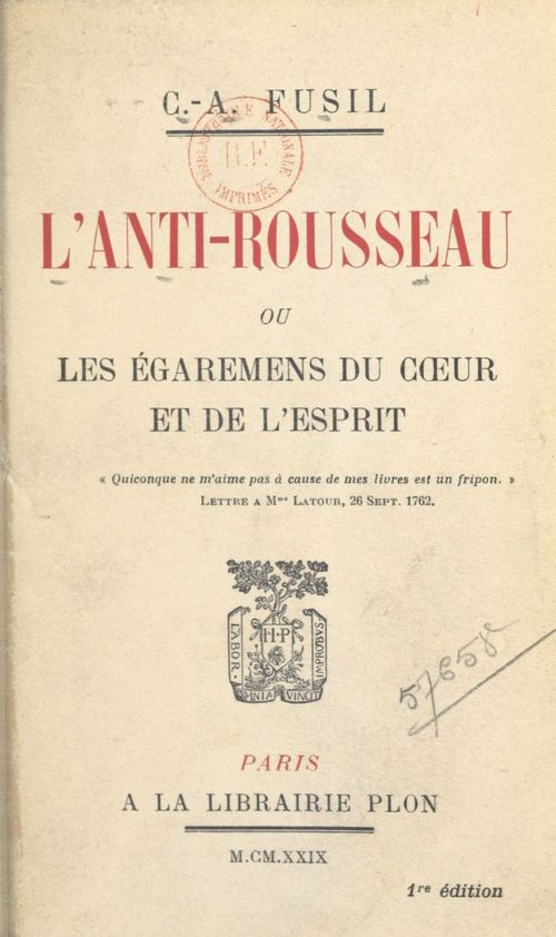 L'anti-Rousseau