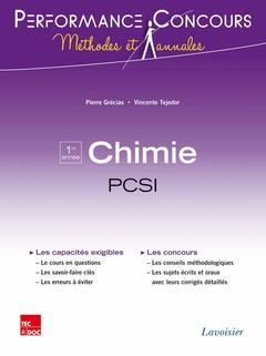 PERFORMANCE CONCOURS ; chimie ; PCSI 1re année