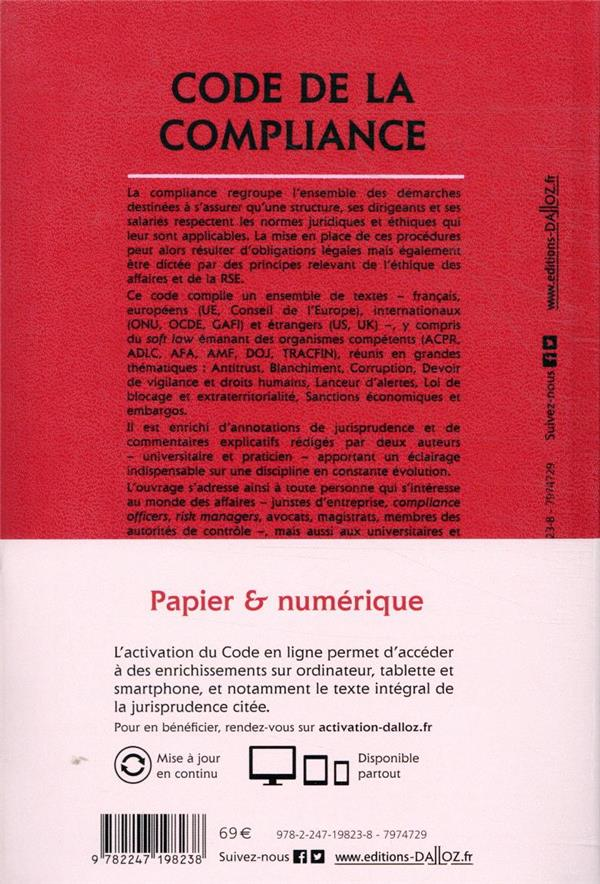 Code de la compliance, annoté et commenté (édition 2021)