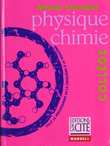 Physique chimie au college