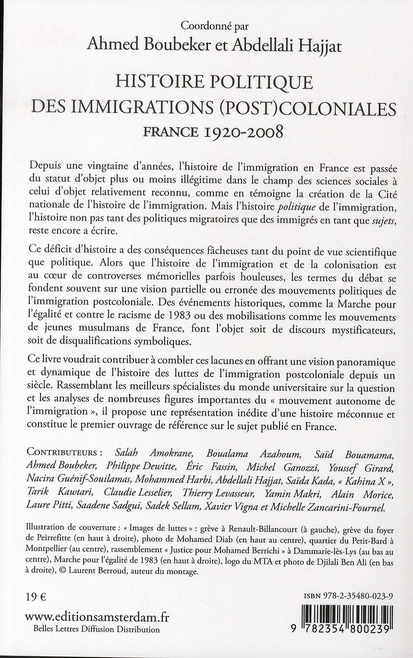Histoire politique des immigrations (post)coloniales ; France, 1920-2008