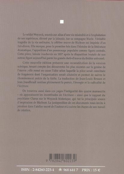 Woyzeck ned - texte manuscrits source / traduction nouvelle