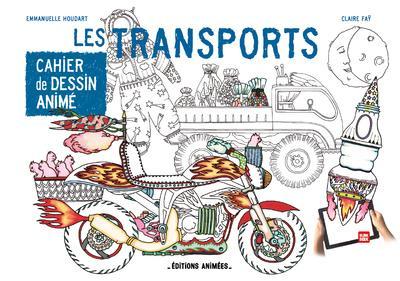 Cahier de dessin animé ; les transports