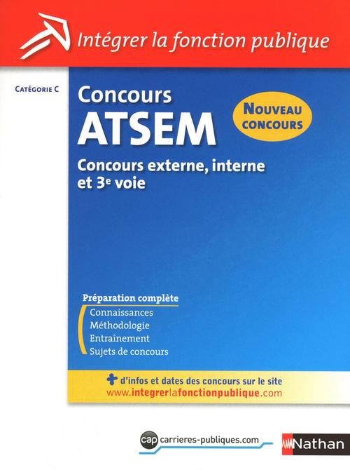 Concours ATSEM ; catégorie C ; concours externe, interne et 3e. voie