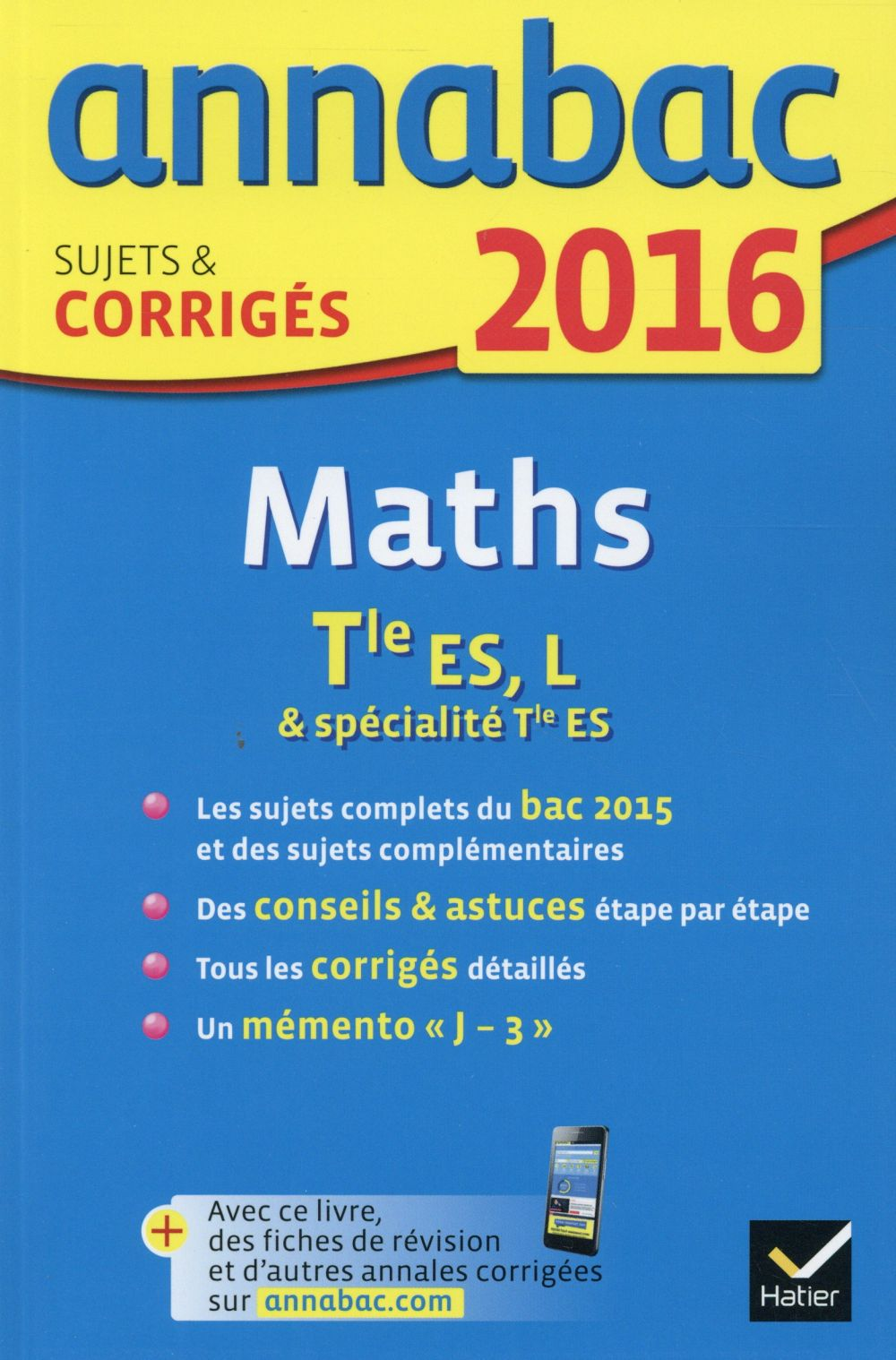 Annabac; Maths ; Terminale Es, L (Edition 2016)
