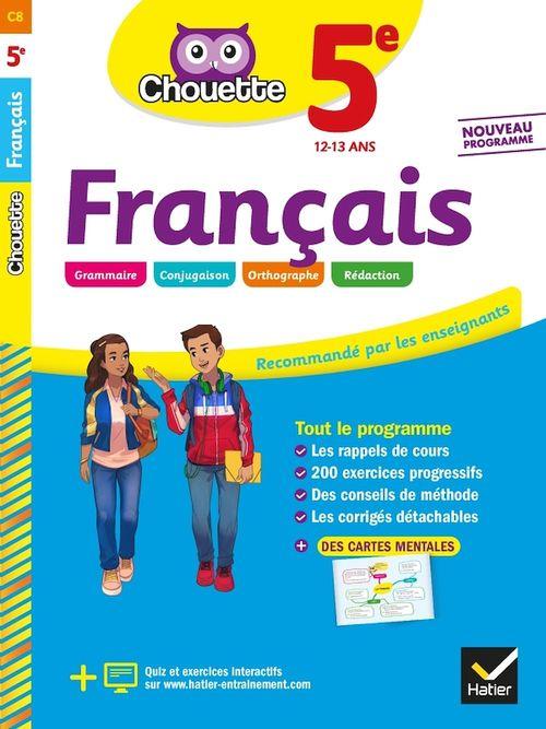 Chouette entraînement T.8 ; français ; 5e ; cahier d'entraînement et de révision