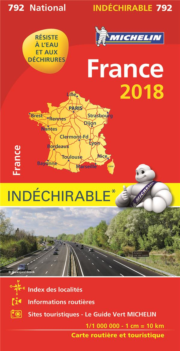 XXX - CARTE NATIONALE 792 FRANCE INDECHIRABLE 18