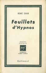 Vente EBooks : Feuillets d'Hypnos  - René CHAR