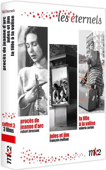 Coffret Éternels - 3 - La fille à la valise + Le procès de Jeanne d'Arc + Jules et Jim