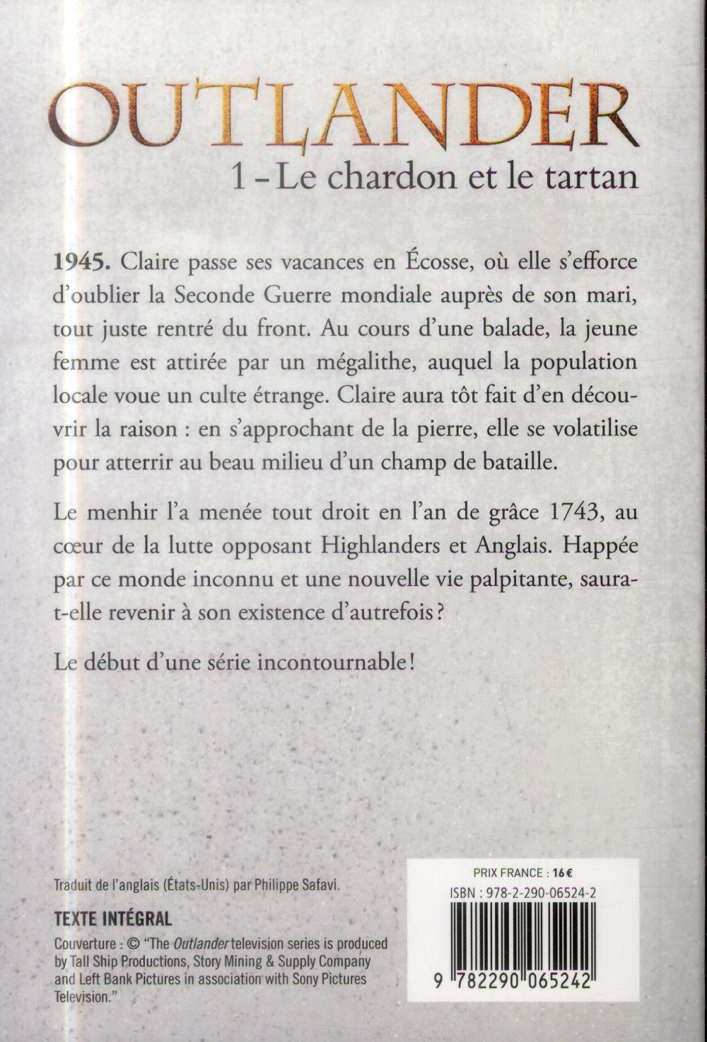 Outlander t.1 ; le chardon et le tartan