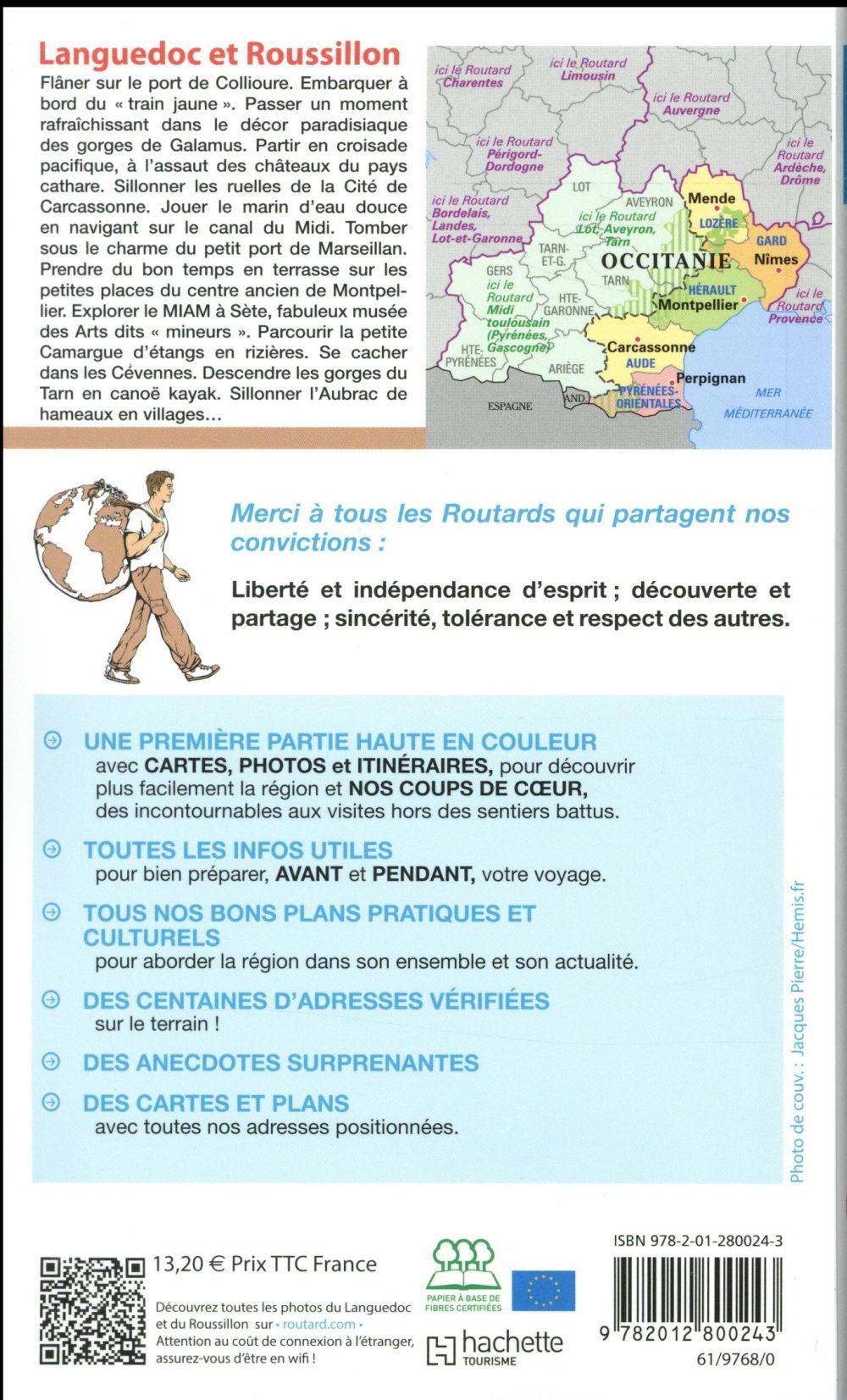 Guide Du Routard Languedoc Et Roussillon Cevennes Edition 2018 Collectif Hachette Hachette Tourisme Grand Format Espace Culturel Leclerc St Leu