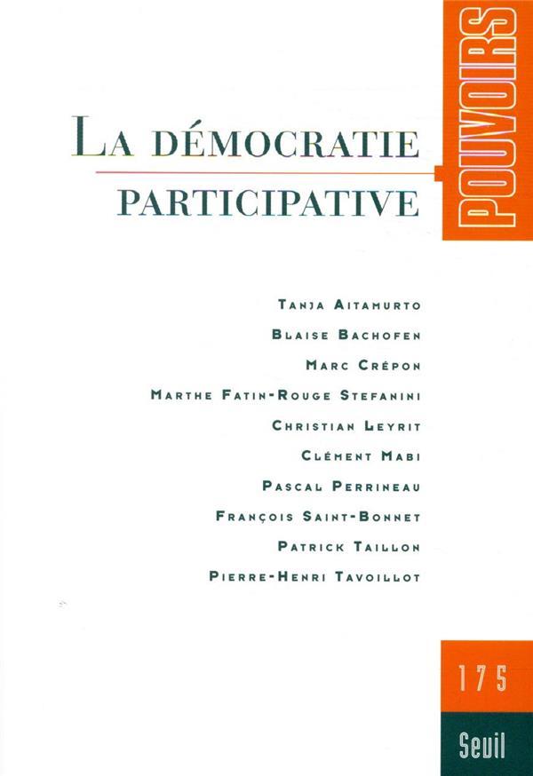 Revue pouvoirs n.175 ; la democratie participative