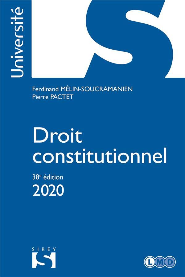Droit constitutionnel (édition 2020)