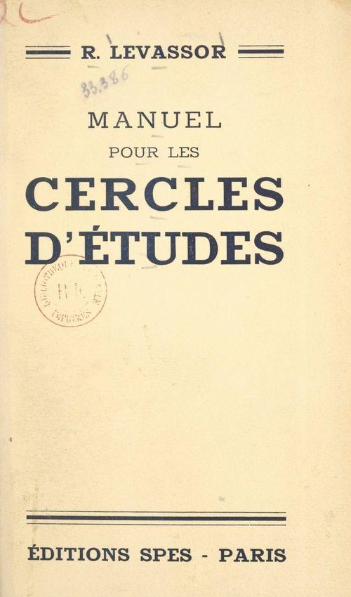 Manuel pour les cercles d'études