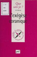 L'exégèse coranique