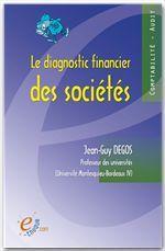 Vente  Le diagnostic financier des sociétés  - Jean-Guy Degos