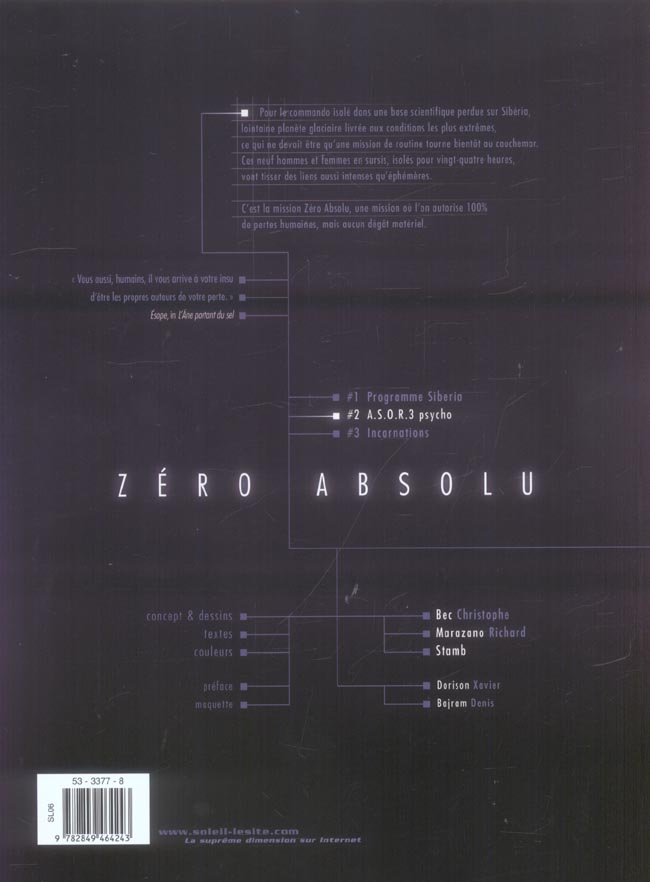 Zéro absolu T.2 ; A.S.O.R.3 psycho