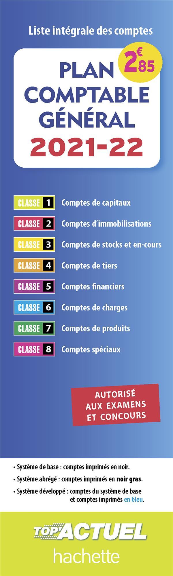 plan comptable général ; liste intégrale des comptes (édition 2021/2022)