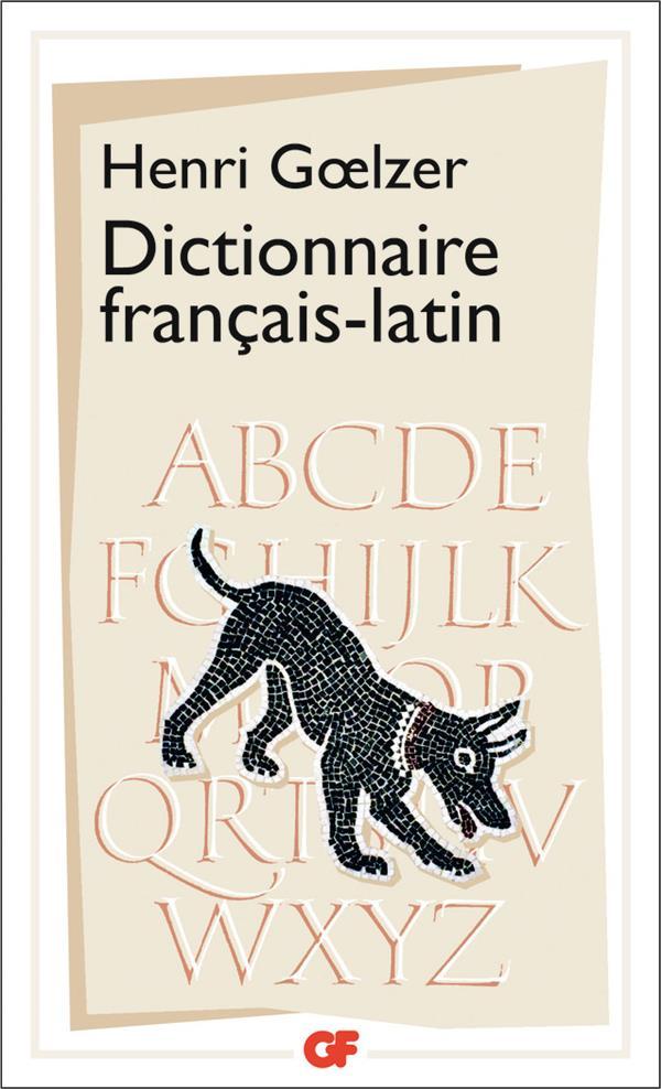 Dictionnaire Francais/Latin