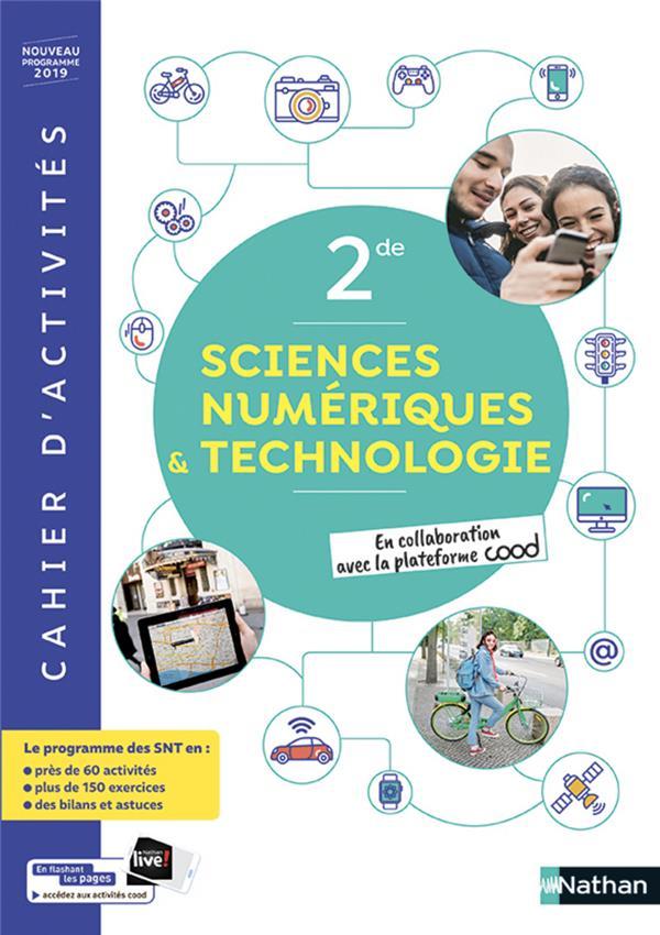 Sciences Numerique & Technologiques ; 2de ; Nouveau Programme 2019