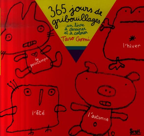 365 jours de gribouillages ; un livre a dessiner et a colorier