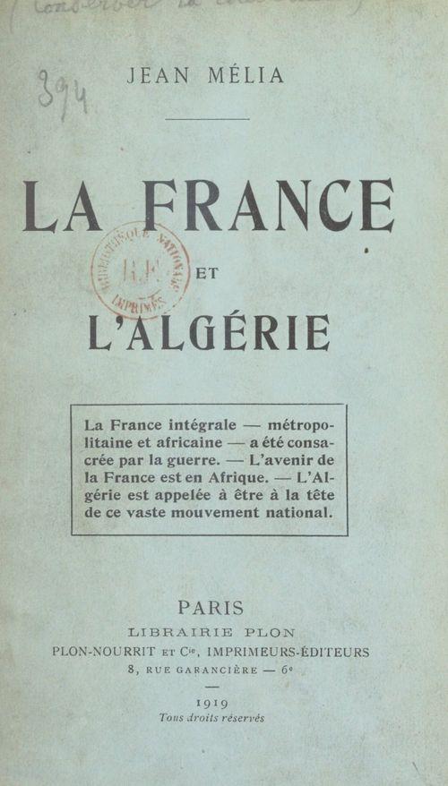 La France et l'Algérie