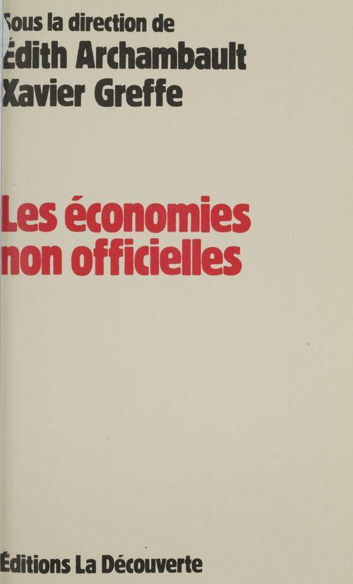 Les Économies non officielles