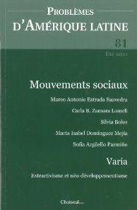 Problemes d'amerique latine t.81; les mouvements sociaux en amerique latine