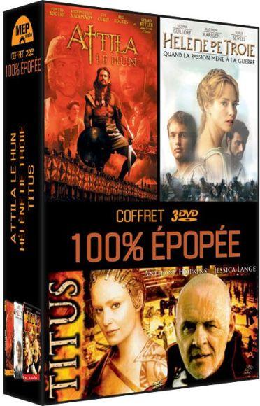 Coffret 100% Epopée : Attila le Hun + Hélène de Troie + Titus