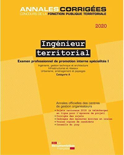 Ingénieur territorial ; examen t.1 ; spécialité I, examen, catégorie A. (édition 2020)