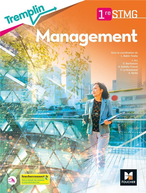 TREMPLIN ; management ; 1re STMG ; livre élève (édition 2021)