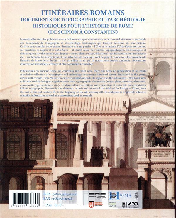 itinéraires romains ; documents de topographie et d'archéologie historique pour l'histoire de Rome (de Scipion à Constantin)