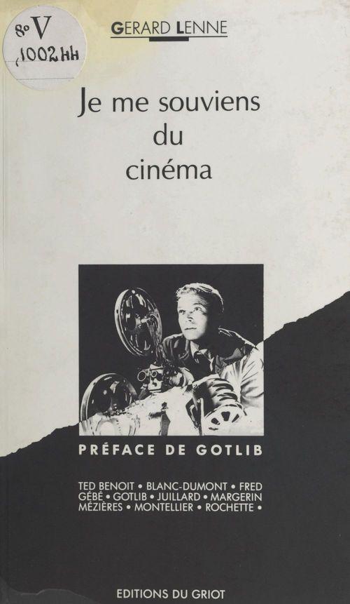 Je me souviens du cinema