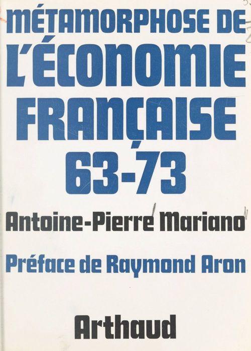 Métamorphose de l'économie française, 63-73