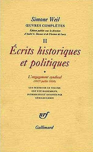 oeuvres complètes t.2 ; écrits historiques et politiques t.1