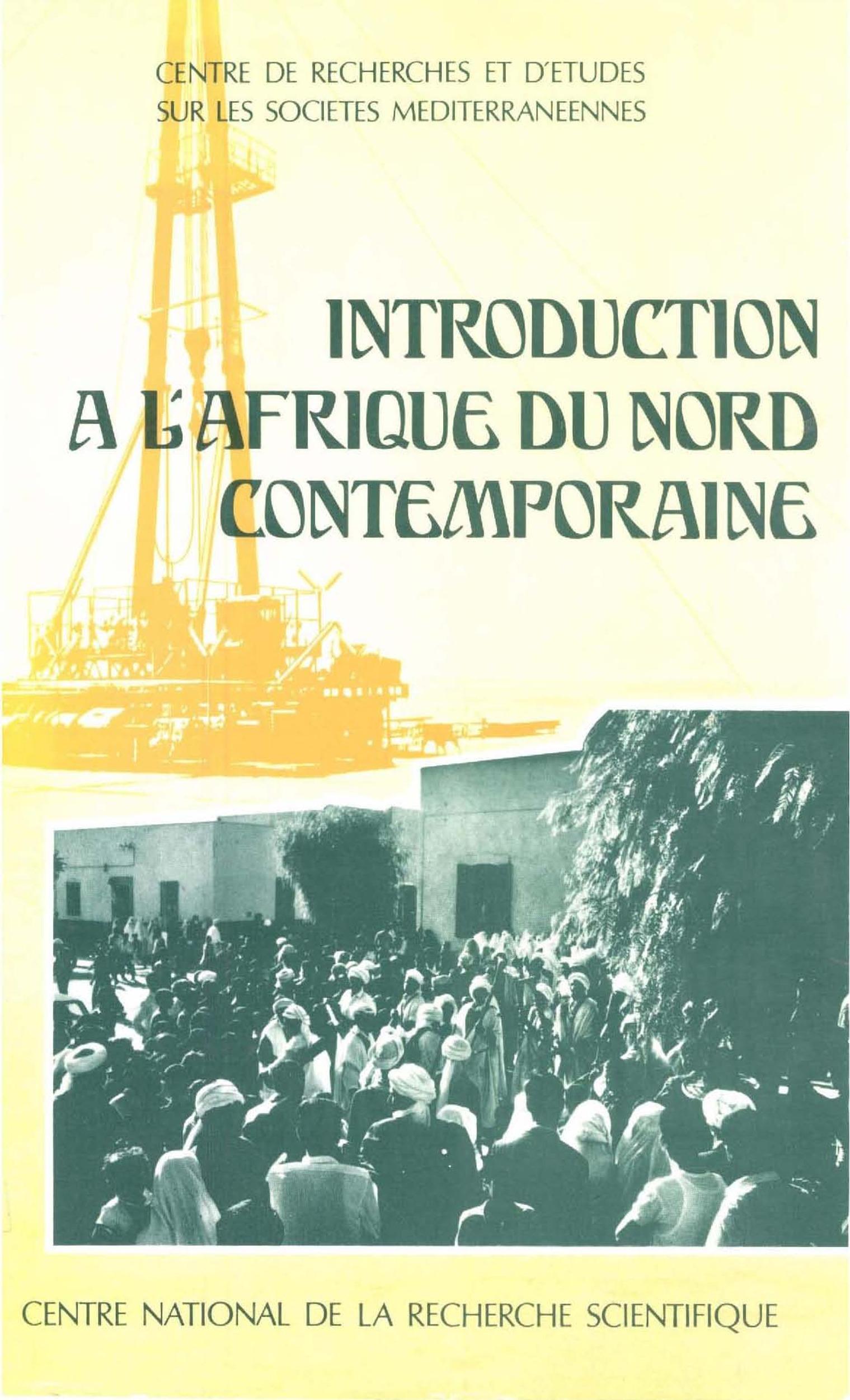 Introduction à l´Afrique du Nord contemporaine