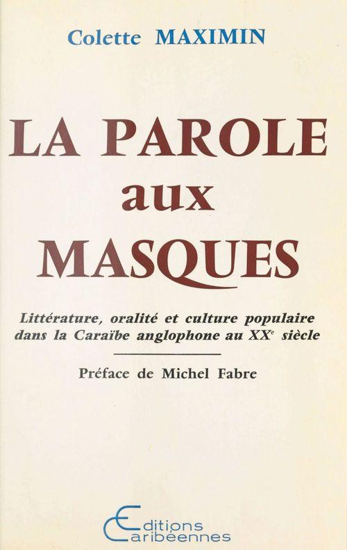 Paroles aux masques litterature oralite et culture p