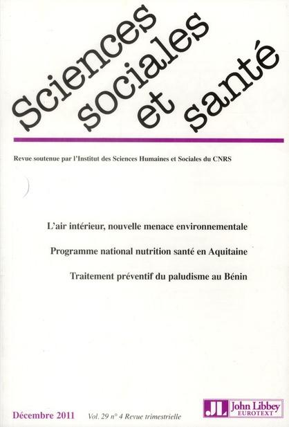 Revue sciences sociales et sante n.4