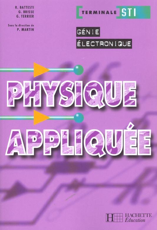 Physique Appliquee Terminale Sti Genie Electronique ; Livre De L'Eleve