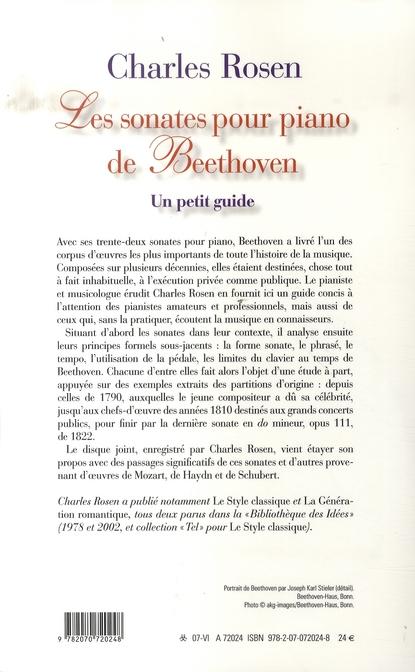 Les sonates pour piano de beethoven ; un petit guide
