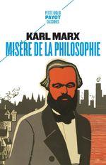 Vente EBooks : Misère de la philosophie  - Karl Marx