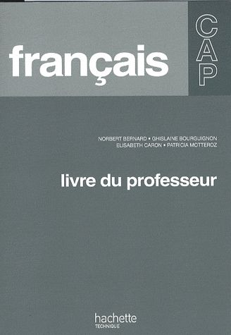 Français ; CAP ; livre du professeur