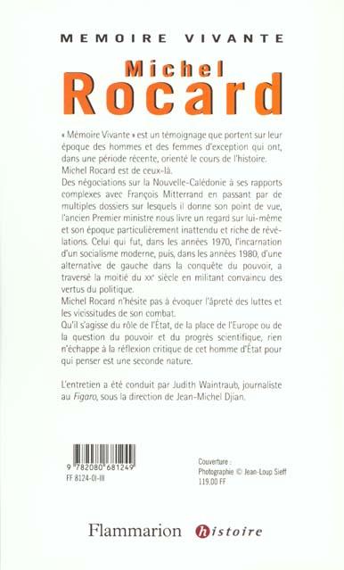Michel Rocard ; entretiens